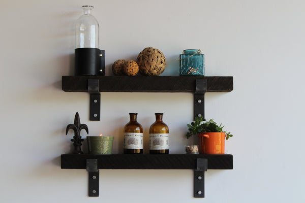 Reclaimed Barn Wood Accent Shelf