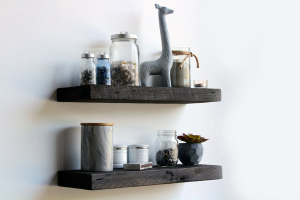 Reclaimed Barn Wood Floating Shelf