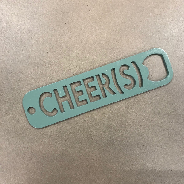 CHEER(S) Bottle Opener- Sage