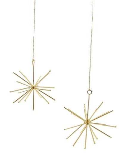 Starburst Gold Ornament