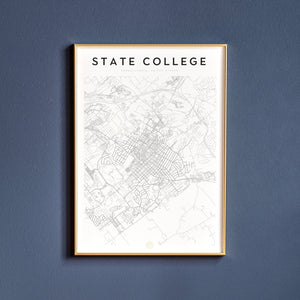 State College Map Print