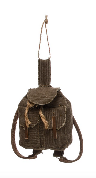 Canvas Backpack Ornament