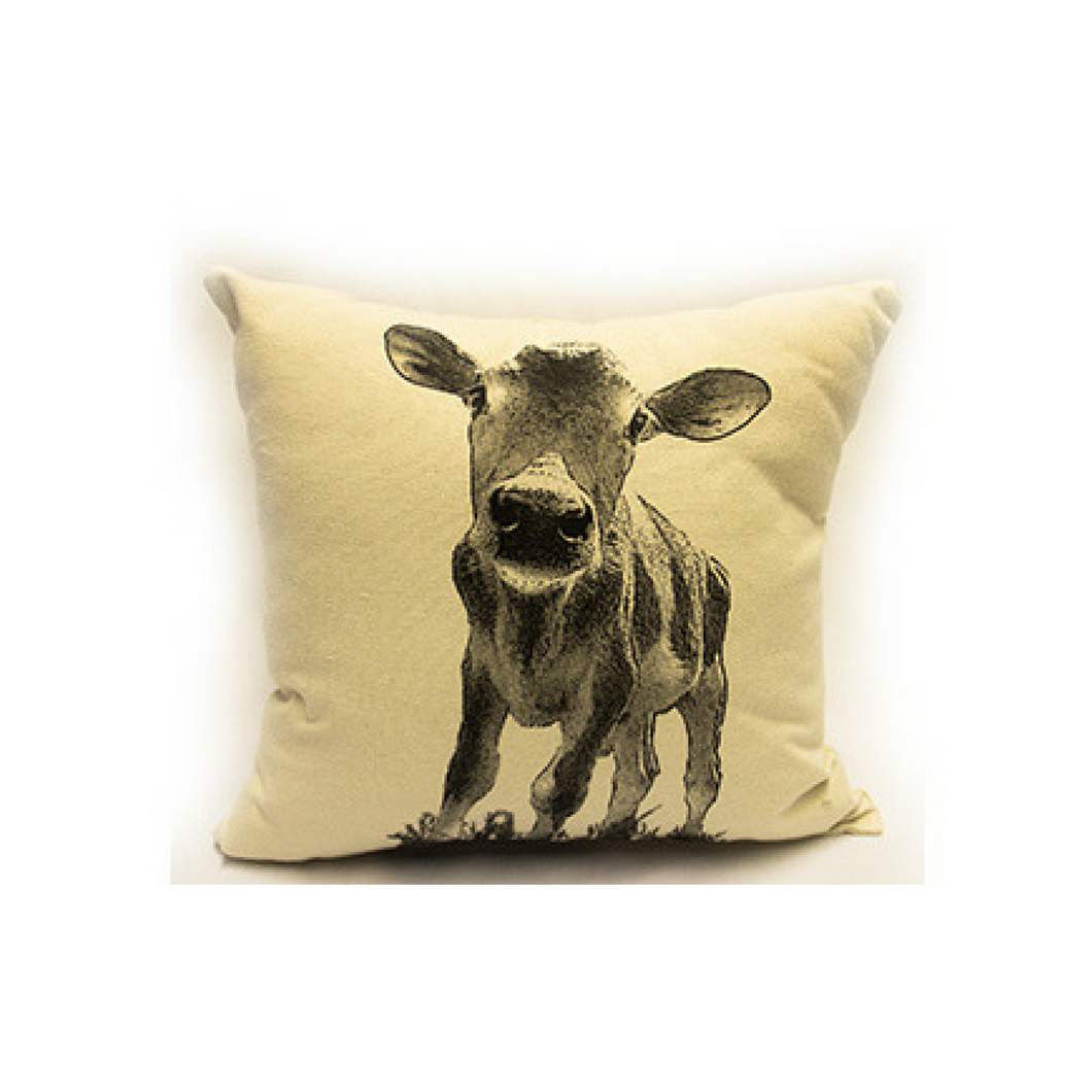 Eric & Christopher Cow Baby Pillow