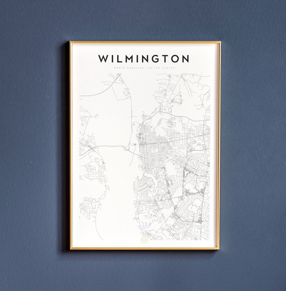 Wilmington Map Print