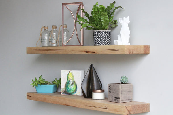 Modern Maple Floating Shelf