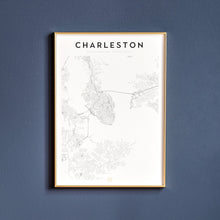 Load image into Gallery viewer, Charleston Map Print
