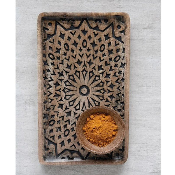 Hand-Carved Mango Wood Tray