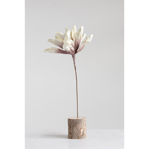 Faux Floral Stem, Cream
