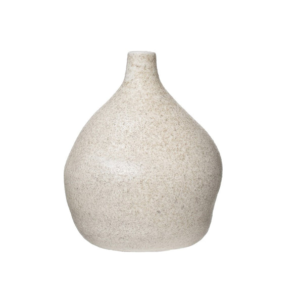 Distressed Cream Glaze Terra-Cotta Vase