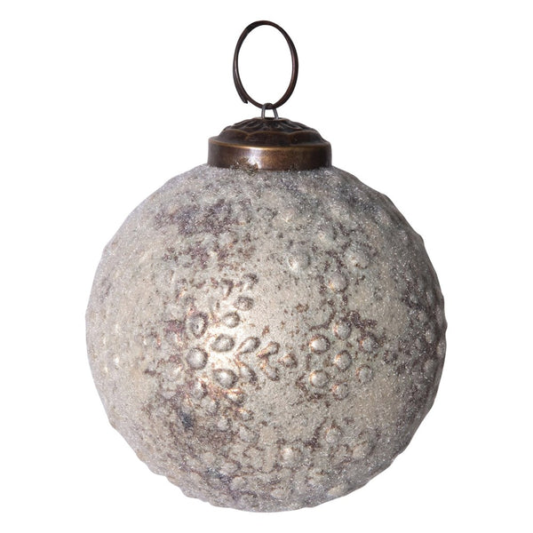 Embossed Mercury Glass Ornament
