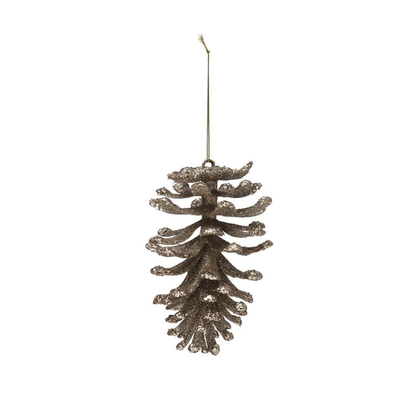 Champagne Pinecone Ornament