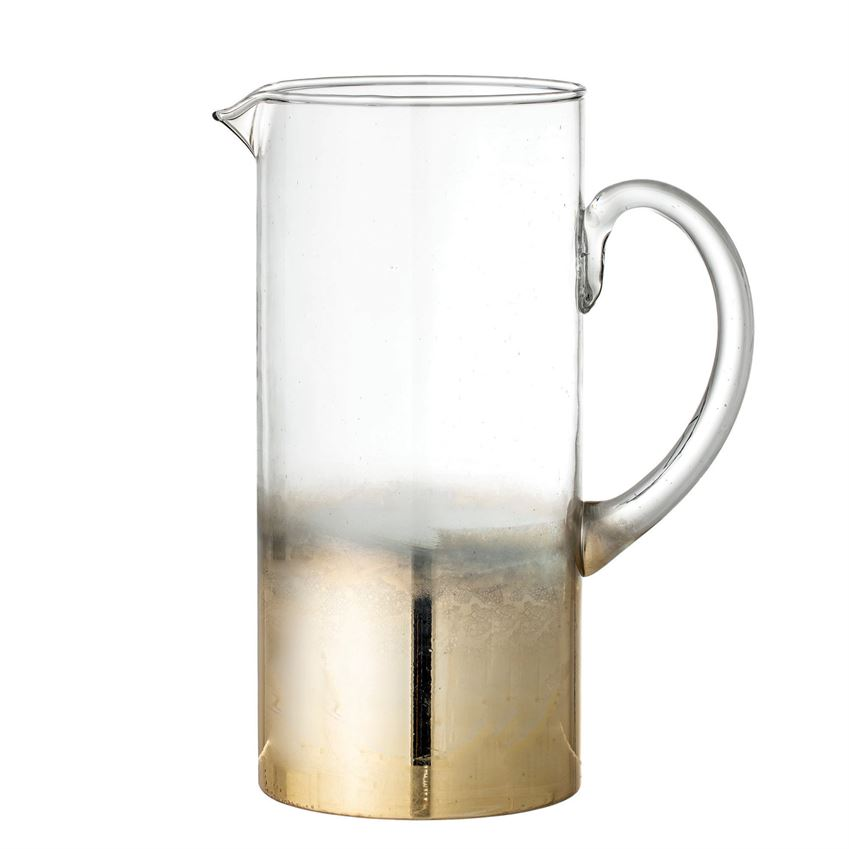 Gold Ombre Glass Pitcher