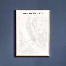 Load image into Gallery viewer, Harrisburg Map Print
