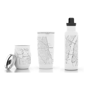 Lancaster Map Insulated Bottle