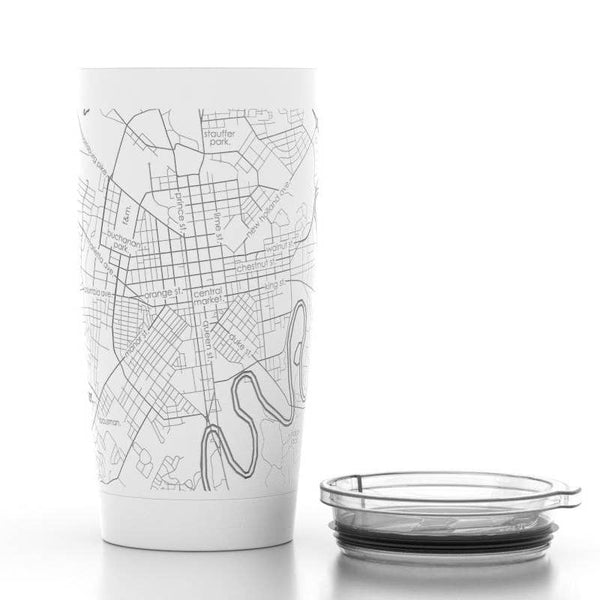 Lancaster Map Insulated Pint Tumbler