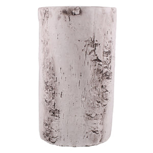 Faux Birch Cement Vase