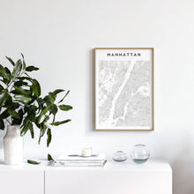 Load image into Gallery viewer, Manhattan Map Print