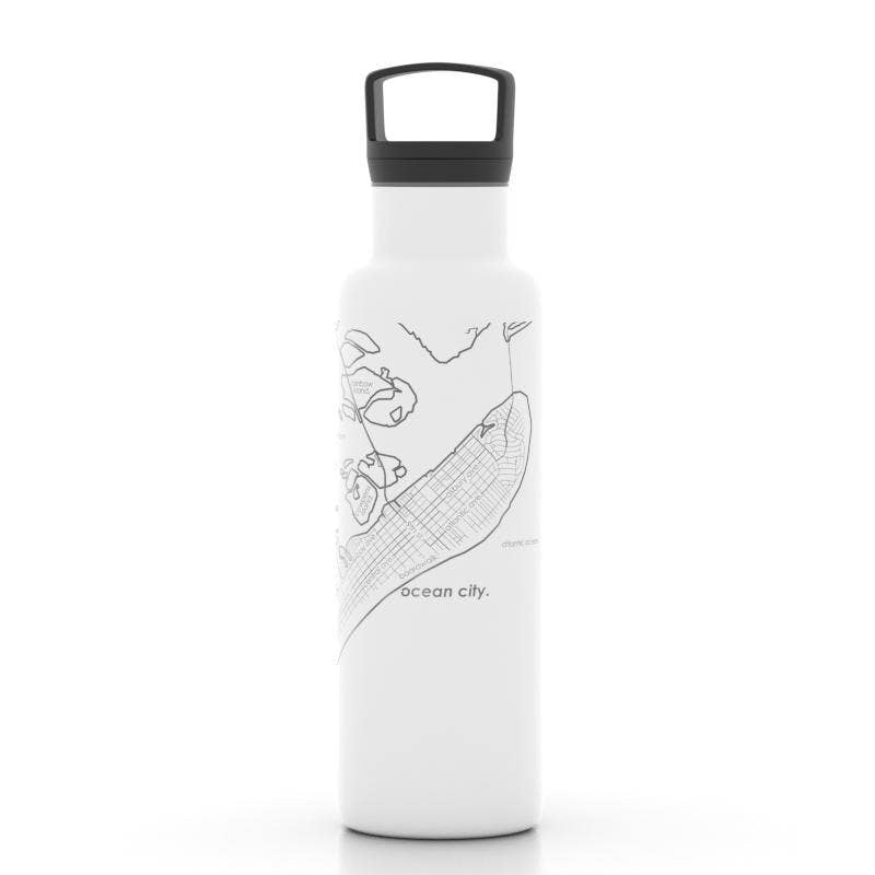 Ocean City New Jersey Map Insulated Bottle