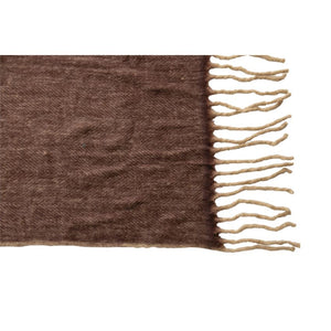 Plum + Russet Throw with Fringe