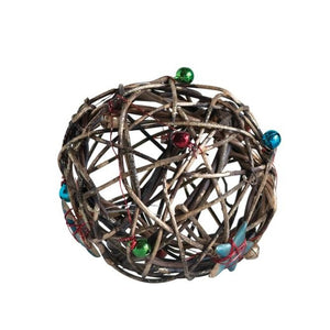 Vine Ball Ornament with Bells