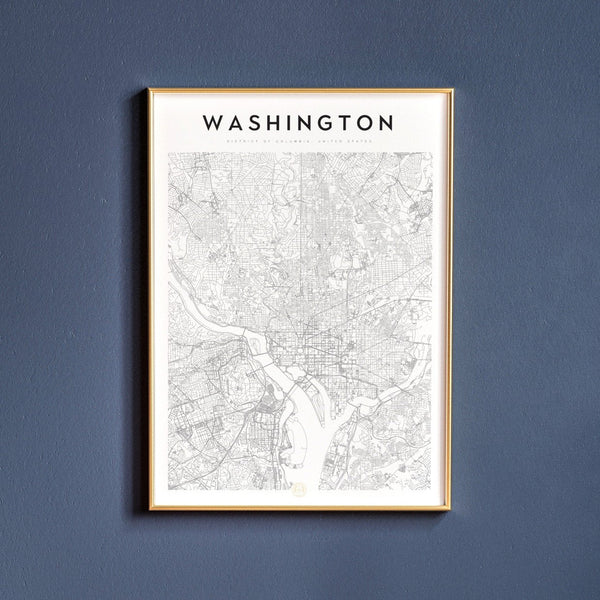 Washington, D.C. Map Print