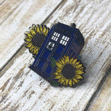 For Amy TARDIS *Glitter | Enamel Pin