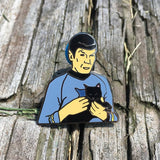 Spock Holding a Cat | Enamel Pin