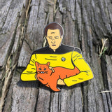 Data Holding a Cat | Enamel Pin