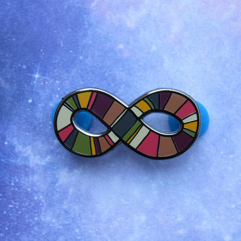 Fourth Doctor's Infinity Scarf | Enamel Pin