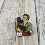 Kirk and Tribbles | Enamel Pin
