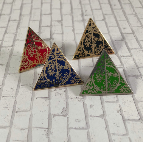 Floral Triangle | Enamel Pin