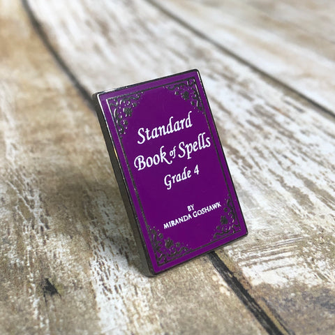 Standard Book of Spells Grade 4 | Enamel Pin