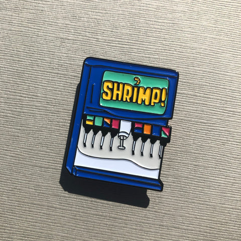 Shrimp Vending Machine | Enamel Pin