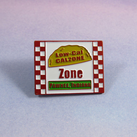 Low cal calzone zone | Enamel Pin