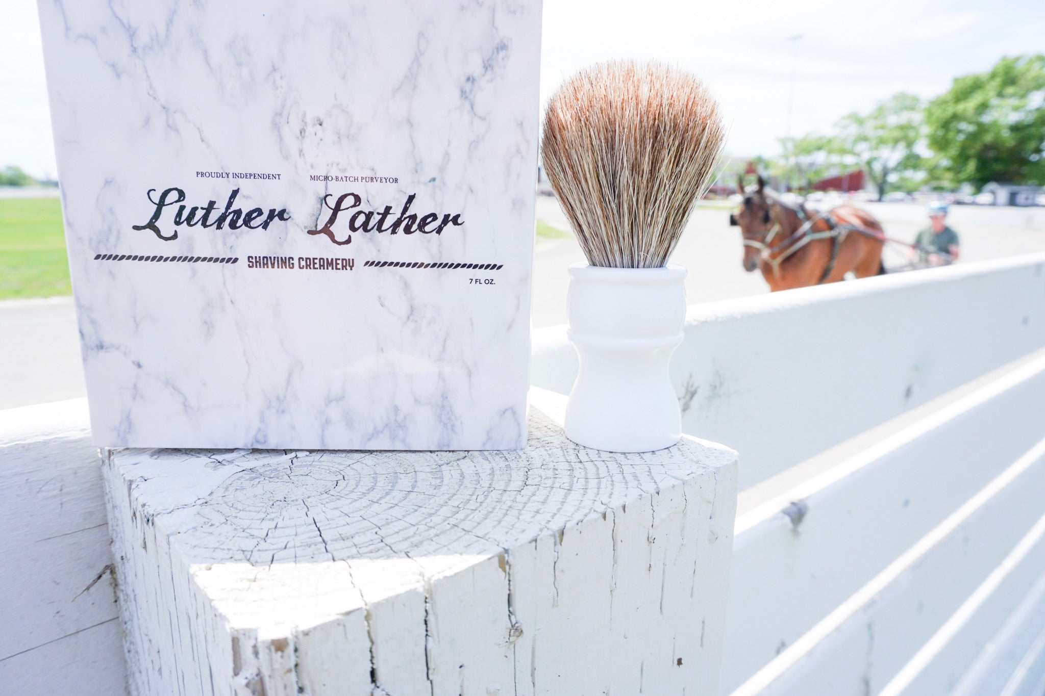 horse hair shave brush luther