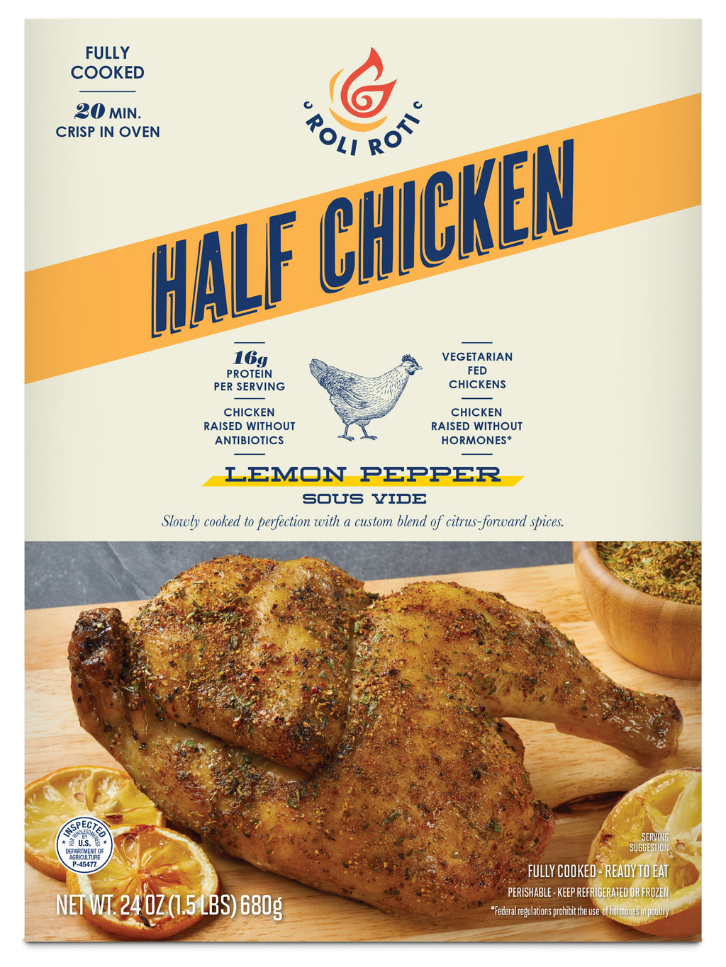 Lemon Pepper Half Chicken