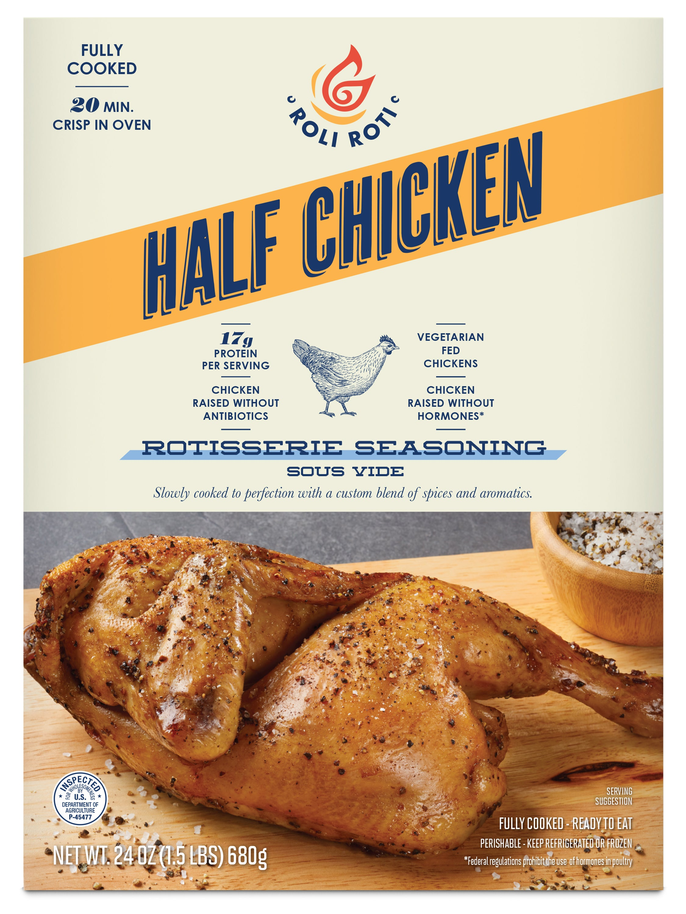 Rotisserie Seasoning Half Chicken