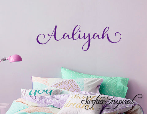 Nursery Wall Decal Kids Wall Decal Wall Decals For Girls or Boys. Wall Decals Personalized Names Aaliyah Calligraphic Style