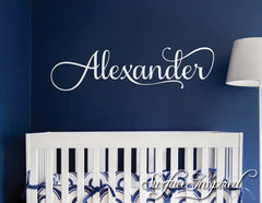 Nursery Wall Decal Personalized Names Kids Wall Decal For Girls or Boys Room Alexander Style