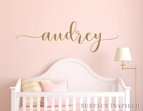 Nursery Wall Decal Kids Wall Decal Wall Decals For Girls or Boys. Wall Decals Personalized Names Audrey Calligraphic Style