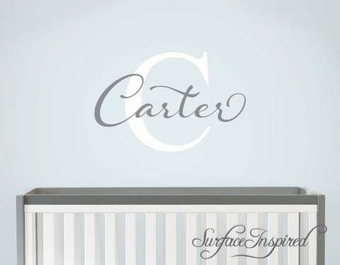 Nursery Wall Decal Personalized Names Wall Decals For Kids Carter Style Monogram