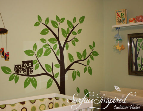 Nursery Wall Decals Baby Owl Tree Wall Decal