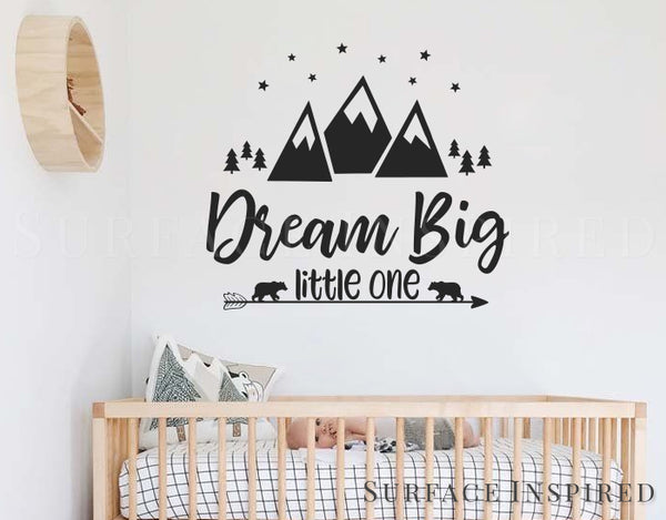 Wall Decal Kids Quote Nursery Wall Decals Dream Big Wall Decal For Kids  Boys And Girls