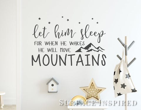 Wall Decals Quote Let Him Sleep Quote Wall Decal Stickers
