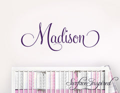 Name Wall Decals Nursery Vinyl Lettering Personalized Name Decal Madison Style