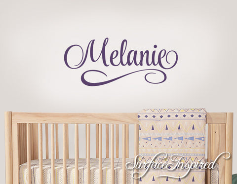 Personalized Name Wall Decal Nursery Wall Decal Melanie Style