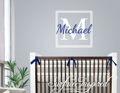 Name Wall Decal Michael Monogram Wall Decals For Nursery