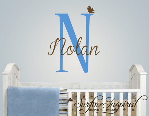 Name Wall Decal - Nolan Monogram Wall Decals for Nursery