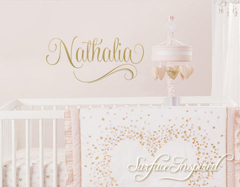 Personalized Name Wall Decal Nursery Wall Decal Nathalia Style
