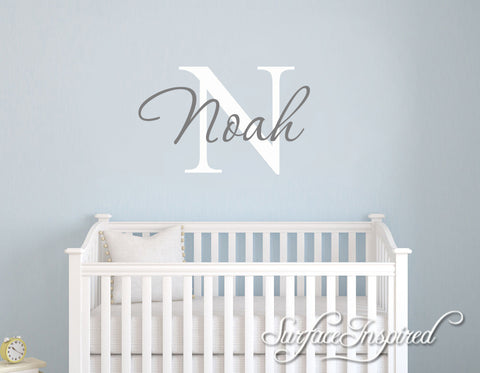 Nursery Wall Decals. Personalized names wall decal for boys and girls rooms. Noah Style
